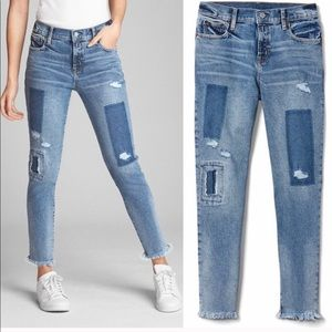 GAP patchwork jeans.